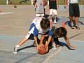Huevo Sánchez  Album: Campus Verano 2008  Febrero, día 4. Ya en mini básquet hay que conocer el valor de cada pelota.