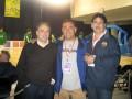 Huevo Sánchez  Album: Euroliga 2006  Con Alfredo Salazar (Scouter del TAU) y Manolo Flores (Barcelona)