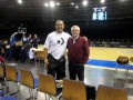 Huevo Sánchez  Album: Euroliga 2009  Con Valerio Bianchini, entrenador de la Banco Di Roma del 83, donde me recibió 15 días para ver sus prácticas en Roma