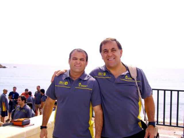 Huevo Sánchez  Con Claudio Prieto - Entrenador Argentino en España  Album: Forum Entrenadores 2009  Dimensiones: 640x480