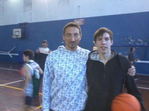Diego Martinotti con Aleksandar Glisic