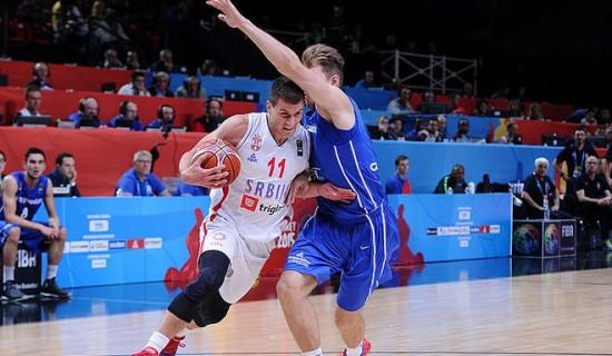 Serbia luchó ante República Checa para clasificarse a semifinales.